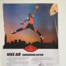 Coleccionismo deportivo: MICHAEL AIR JORDAN HOJA DE REVISTA PUBLICIDAD NBA CHICAGO BULLS. Lote 206601692