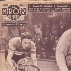 Coleccionismo deportivo: REVISTA DEPORTIVA LE MIROIR DES SPORTS ABRIL 1957. Lote 206759053