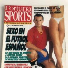 Colecionismo desportivo: REVISTA FORTUNA SPORTS NUMERO 6 SEPTIEMBRE 1989 SEXO EN EL FUTBOL ESPAÑOL NORRIS FIGNON WAYNE RAINEY. Lote 206814855