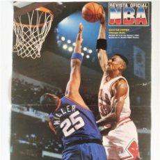Coleccionismo deportivo: PÓSTER SCOTTIE PIPPEN (5º PARTIDO FINALES 1993) ~ REVISTA OFICIAL NBA. Lote 206835068