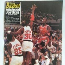 Coleccionismo deportivo: PÓSTER NBA - MICHAEL JORDAN ~ REVISTA SUPERBASKET (1989). Lote 206835156