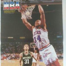 Coleccionismo deportivo: PÓSTER CHARLES BARKLEY ~ REVISTA OFICIAL NBA. Lote 206835201