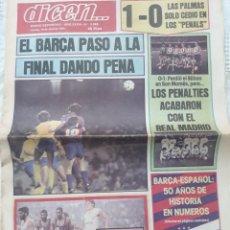 Coleccionismo deportivo: DIARIO DEPORTIVO DICEN N°5985. ABRIL DE 1983 . BARCELONA Y BILBAO A LA FINAL DE COPA .. Lote 207090495
