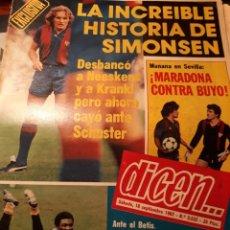 Coleccionismo deportivo: DIARIO DICEN AÑO 1982 .LA INCREÍBLE HISTORIA DE SIMONSEN. MARADONA CONTRA BUYO. VUELVE N'KONO. Lote 207198343