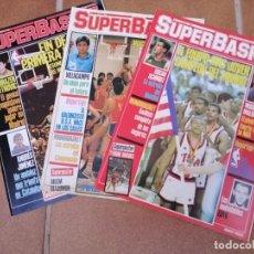 Coleccionismo deportivo: LOTE DE TRES REVISTAS DEPORTIVAS SUPERBASKET NUMEROS 3 - 5 Y 6 -AÑO 1986. Lote 207281322