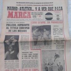 Coleccionismo deportivo: MARCA N° 7766. 19 DE DICIEMBRE DE 1966 REAL MADRID- ATLÉTICO EN CHAMARTIN .SIN PRONOSTICO .. Lote 207294368