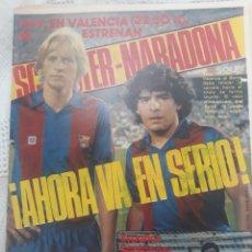 Coleccionismo deportivo: DIARIO DICEN 4 SEPTIEMBRE 1982 - DEBUT DE MARADONA EN LA LIGA ESPAÑOLA.DUELO CON KEMPES. Lote 207302772
