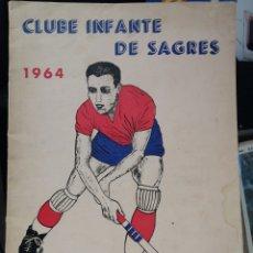 Coleccionismo deportivo: BOLETIN DE HOCKEY CLUB INFANTE DE SAGRES 1964 NUMERO UNICO. Lote 207392821