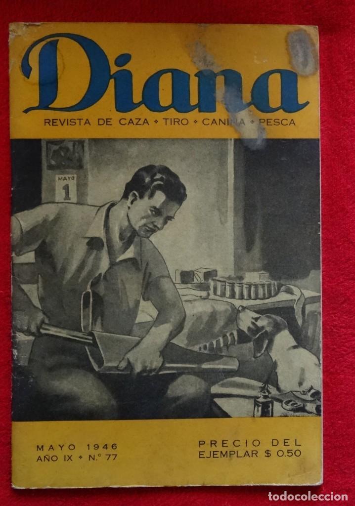 REVISTA DE CAZA, TIRO, CANINA Y PESCA, DIANA Nº 77 ARGENTINA MAYO 1946 (Coleccionismo Deportivo - Revistas y Periódicos - otros Deportes)