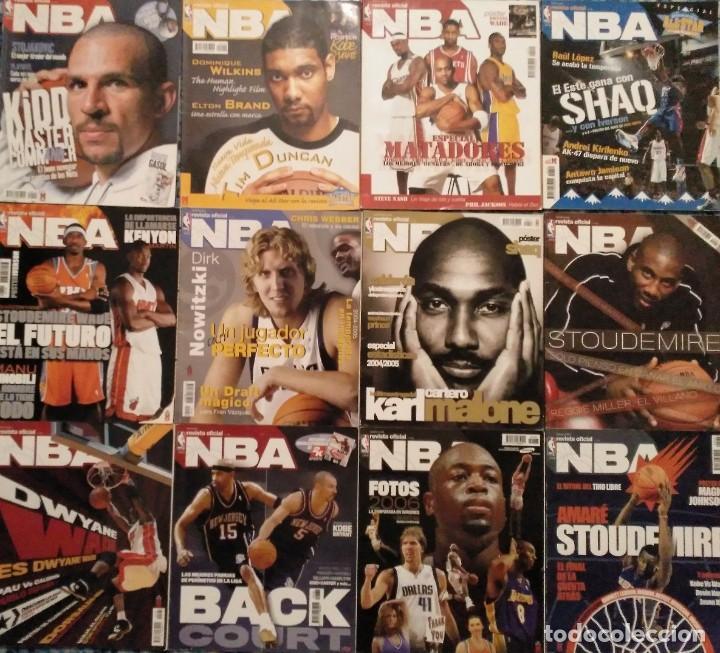 ''REVISTA OFICIAL NBA'' (2004-2011) - LOTE DE 23 REVISTAS + CINCO GUÍAS NBA + TARJETAS (Coleccionismo Deportivo - Revistas y Periódicos - otros Deportes)