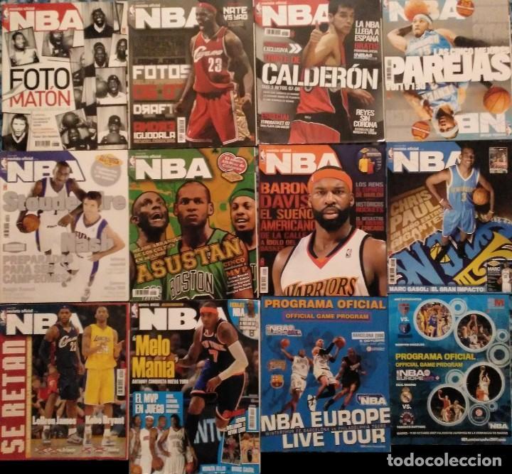 Coleccionismo deportivo: Revista Oficial NBA (2004-2011) - Lote de 23 revistas + Cinco guías NBA + tarjetas - Foto 2 - 203407616