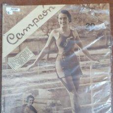 Collectionnisme sportif: 34109 - REVISTA - CAMPEON - 12 DE DICIEMBRE DE 1932. Lote 208209902