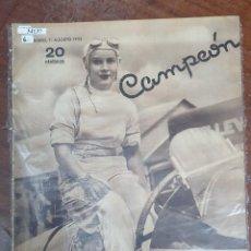 Collectionnisme sportif: 34137 - REVISTA - CAMPEON - 11 DE AGOSTO DE 1935. Lote 208210816