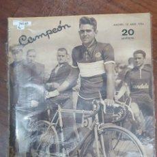 Coleccionismo deportivo: 34145 - REVISTA - CAMPEON - 12 DE ABRIL DE 1936. Lote 208211023