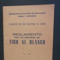 Coleccionismo deportivo: REGLAMENTO PARA LOS CONCURSOS DE TIRO AL BLANCO. Lote 208307360