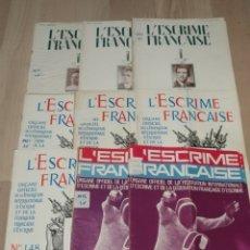 Coleccionismo deportivo: LOTE DE 40 REVISTAS L'ESCRIME FRANÇAISE (ESGRIMA FRANCES). Lote 208463512