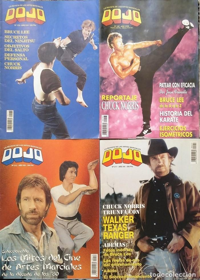 CHUCK NORRIS - CUATRO REVISTAS DE ARTES MARCIALES ''DOJO'' (Coleccionismo Deportivo - Revistas y Periódicos - otros Deportes)