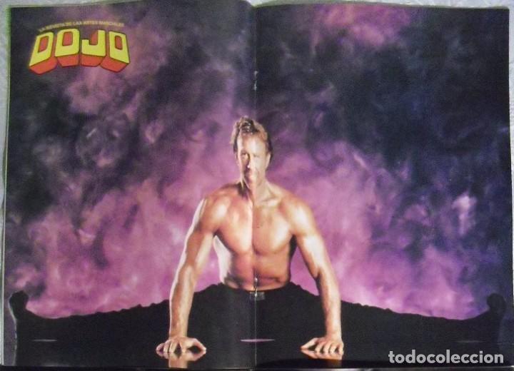 Coleccionismo deportivo: Chuck Norris - Cuatro revistas de artes marciales Dojo - Foto 4 - 176394248