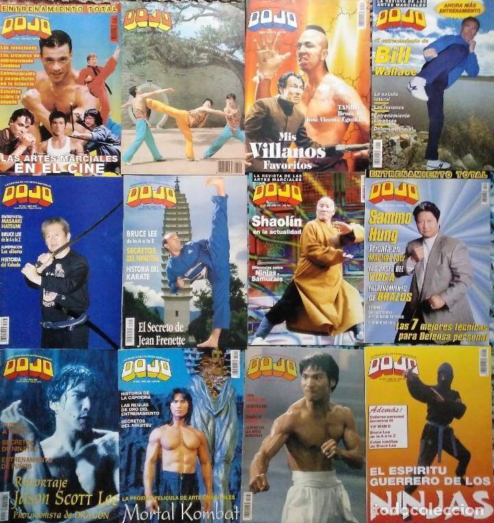 LOTE DE 20 REVISTAS DE ARTES MARCIALES ''DOJO'' (Coleccionismo Deportivo - Revistas y Periódicos - otros Deportes)