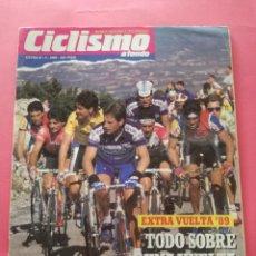Coleccionismo deportivo: REVISTA CICLISMO A FONDO EXTRA Nº 3 1989 - ESPECIAL GUIA VUELTA ESPAÑA 89 - POSTER CABESTANY. Lote 209008013