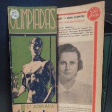 Coleccionismo deportivo: REVISTA OLIMPIADAS BERLIN 1936. PELICULA DE LOS JUEGOS 1° JORNADA . LENI RIEFENSTAHL. Lote 209095303