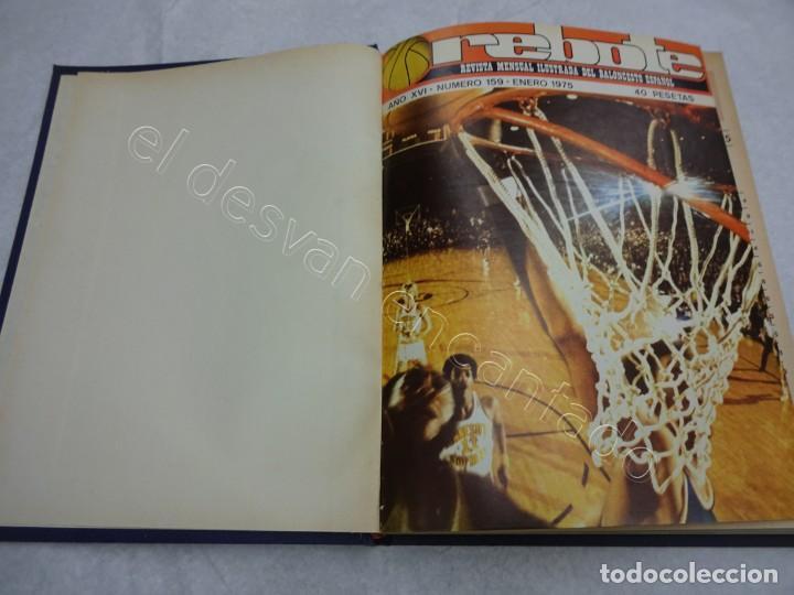 REBOTE. REVISTA DE BALONCESTO. AÑO 1975. COMPLETO EN UN TOMO (Coleccionismo Deportivo - Revistas y Periódicos - otros Deportes)