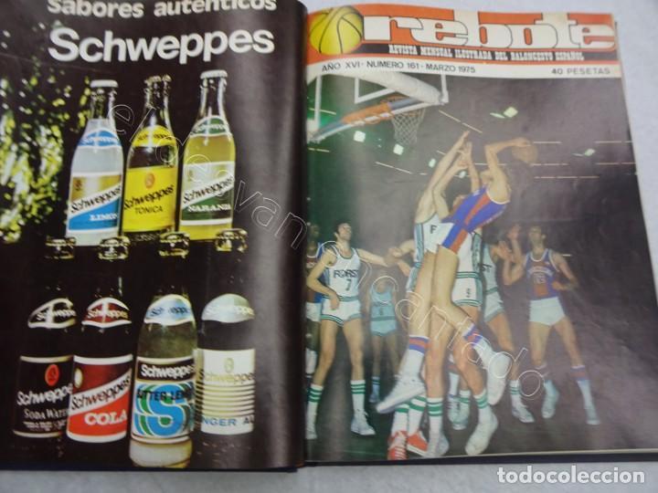 Coleccionismo deportivo: REBOTE. Revista de Baloncesto. Año 1975. Completo en un tomo - Foto 2 - 209233447