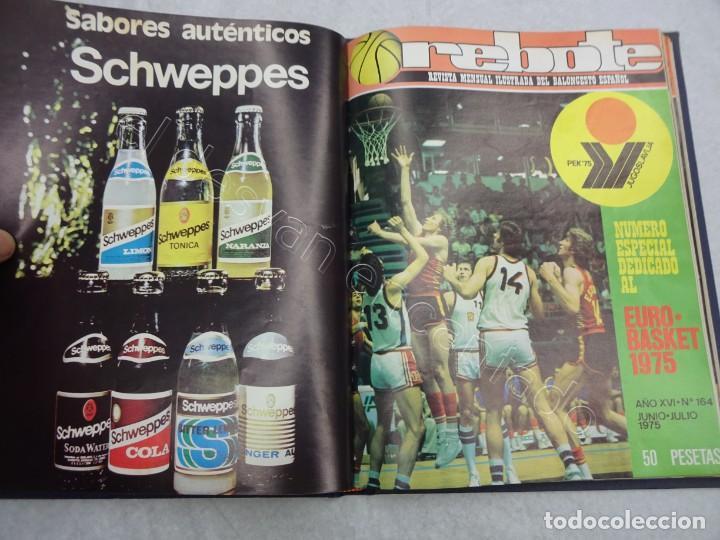 Coleccionismo deportivo: REBOTE. Revista de Baloncesto. Año 1975. Completo en un tomo - Foto 3 - 209233447