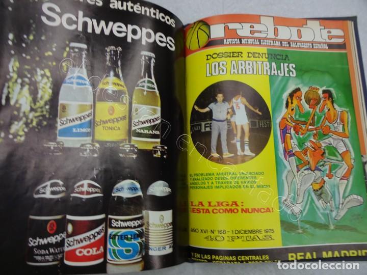 Coleccionismo deportivo: REBOTE. Revista de Baloncesto. Año 1975. Completo en un tomo - Foto 5 - 209233447