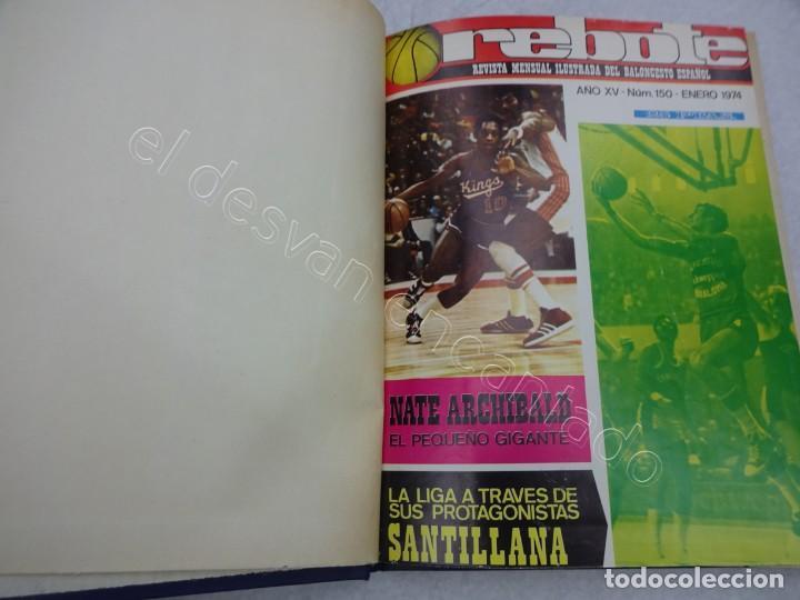 REBOTE. REVISTA DE BALONCESTO. AÑO 1974. COMPLETO EN UN TOMO (Coleccionismo Deportivo - Revistas y Periódicos - otros Deportes)