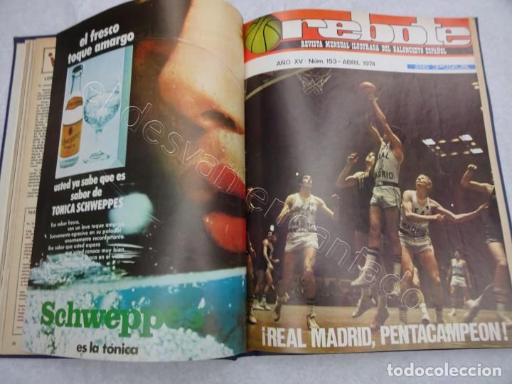 Coleccionismo deportivo: REBOTE. Revista de Baloncesto. Año 1974. Completo en un tomo - Foto 2 - 209233525