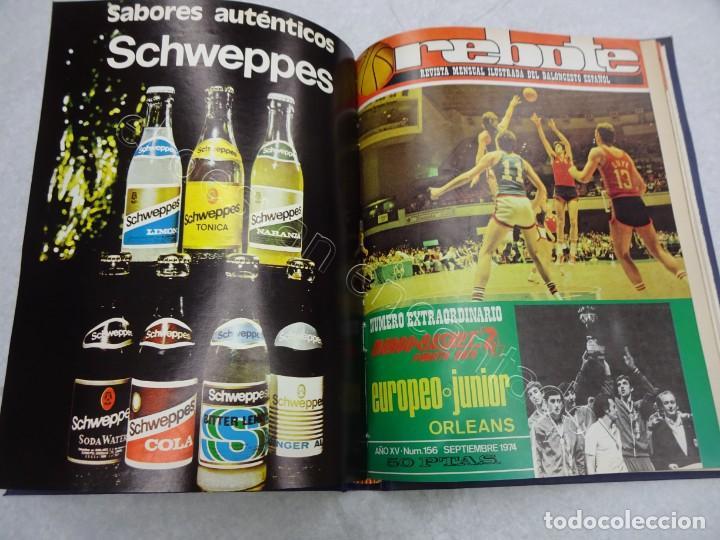 Coleccionismo deportivo: REBOTE. Revista de Baloncesto. Año 1974. Completo en un tomo - Foto 3 - 209233525