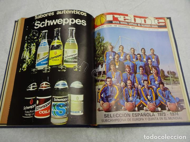 Coleccionismo deportivo: REBOTE. Revista de Baloncesto. Año 1974. Completo en un tomo - Foto 4 - 209233525