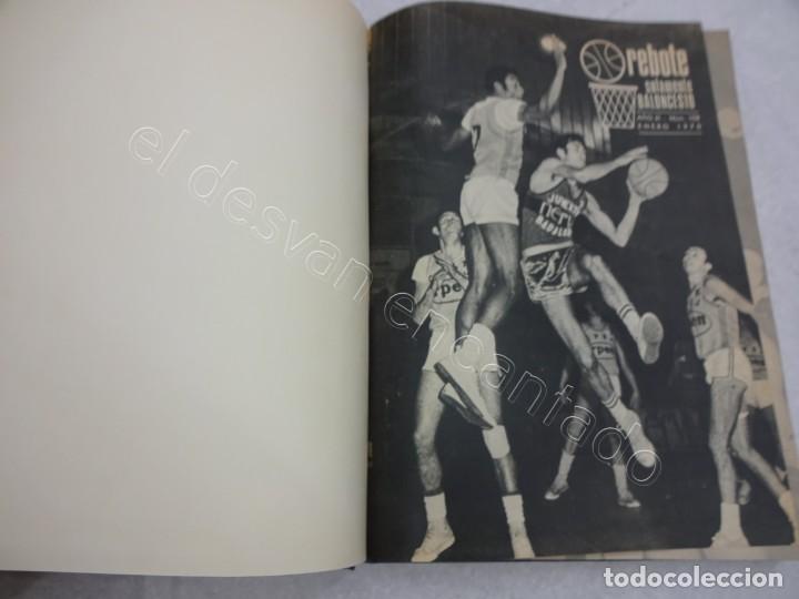 REBOTE. REVISTA DE BALONCESTO. AÑO 1970. COMPLETO EN UN TOMO (Coleccionismo Deportivo - Revistas y Periódicos - otros Deportes)