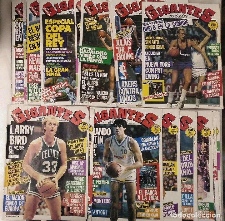 Coleccionismo deportivo: Colección de 115 de las 131 primeras revistas Gigantes del Basket (1985-88) + Especial Jordan - Foto 2 - 162988738