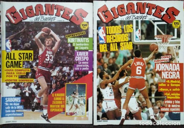 Coleccionismo deportivo: Colección de 115 de las 131 primeras revistas Gigantes del Basket (1985-88) + Especial Jordan - Foto 3 - 162988738