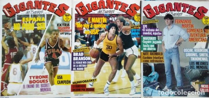 Coleccionismo deportivo: Colección de 115 de las 131 primeras revistas Gigantes del Basket (1985-88) + Especial Jordan - Foto 10 - 162988738