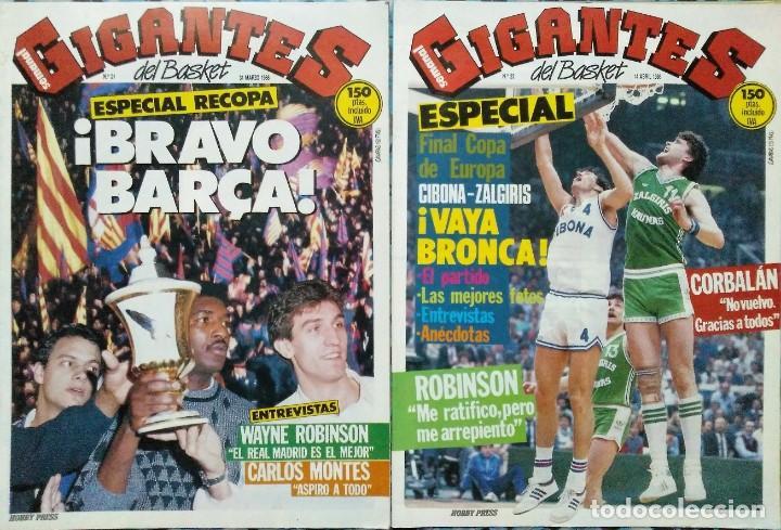 Coleccionismo deportivo: Colección de 115 de las 131 primeras revistas Gigantes del Basket (1985-88) + Especial Jordan - Foto 16 - 162988738