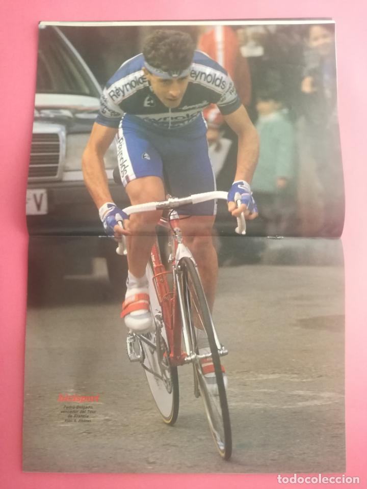 Coleccionismo deportivo: REVISTA BICISPORT Nº 1 1989 - ESPECIAL PREVIO VUELTA CICLISTA A ESPAÑA 89 - POSTER PEDRO DELGADO - Foto 2 - 209938228