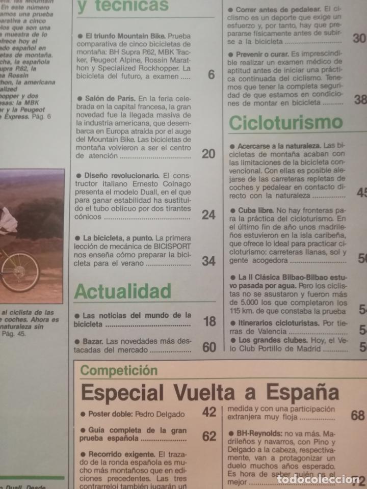 Coleccionismo deportivo: REVISTA BICISPORT Nº 1 1989 - ESPECIAL PREVIO VUELTA CICLISTA A ESPAÑA 89 - POSTER PEDRO DELGADO - Foto 4 - 209938228