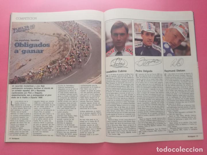 Coleccionismo deportivo: REVISTA BICISPORT Nº 1 1989 - ESPECIAL PREVIO VUELTA CICLISTA A ESPAÑA 89 - POSTER PEDRO DELGADO - Foto 7 - 209938228