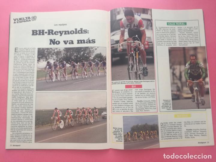 Coleccionismo deportivo: REVISTA BICISPORT Nº 1 1989 - ESPECIAL PREVIO VUELTA CICLISTA A ESPAÑA 89 - POSTER PEDRO DELGADO - Foto 8 - 209938228