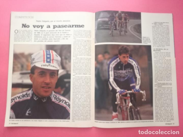Coleccionismo deportivo: REVISTA BICISPORT Nº 1 1989 - ESPECIAL PREVIO VUELTA CICLISTA A ESPAÑA 89 - POSTER PEDRO DELGADO - Foto 10 - 209938228
