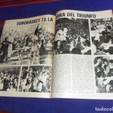 Coleccionismo deportivo: BLANCO Y NEGRO 1973. ESPAÑA MEDALLA PLATA EUROBASKET BALONCESTO, MÓNICA RANDALL. MBE.. Lote 210439053