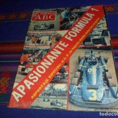 Collezionismo sportivo: LOS DOMINGOS DE ABC AÑO 1976 GRAN PREMIO ESPAÑA FÓRMULA 1 F1. GENTE MENUDA CON VIKIE EL VIKINGO.. Lote 210439312