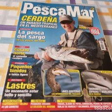 Coleccionismo deportivo: REVISTA PESCAMAR N°58 2008 CERDEÑA PARAÍSO TROPICAL,PESCA DEL SARGO, AVES COSTERAS, TIBURONES ESPADA. Lote 210779814