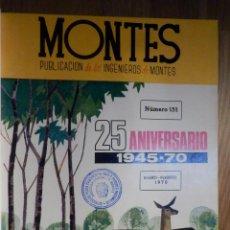 Coleccionismo deportivo: REVISTA INGENIEROS DE MONTES - SERVICIO NACIONAL DE CAZA Y PESCA FLUVIAL - ANO 1970 EN TOMO. Lote 210967487