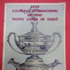 Coleccionismo deportivo: TENIS. TROFEO CONDE DE GODÓ 1955. PROGRAMA OFICIAL. Lote 211392189