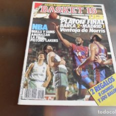 Coleccionismo deportivo: REVISTA BASKET 16, Nº 86 (28 MAYO 1989), LIGA: PLAYOFF FINAL. BARÇA 2 - MADRID 1. Lote 211505352