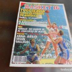 Coleccionismo deportivo: REVISTA BASKET 16, Nº 65 (1 DE ENERO DE 1989), ENTREVISTA: MENDOZA TOMA CARTAS EN LA TORMENTA BLANCA. Lote 211509300